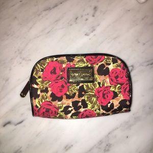 Betsey Johnson Rose/Leopard Makeup Bag